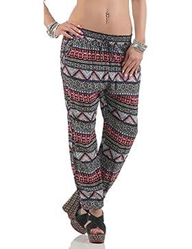 malito Pantalones Anchos en el Ethno-Mirar Pantalones del Ocio 2105-49 Mujer