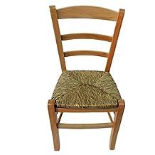 Chaise Artisanale Avec Structure En Htre Et Assise Paille