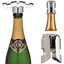Casavidas - Tapón de acero inoxidable para botella de vino, ventosa al calor, tapón