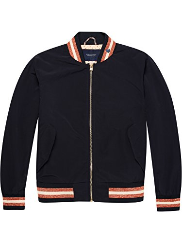 Scotch & Soda Maison Damen Bomberjacke Easy Light Weight Bomber, Blau (Navy 57), X-Large