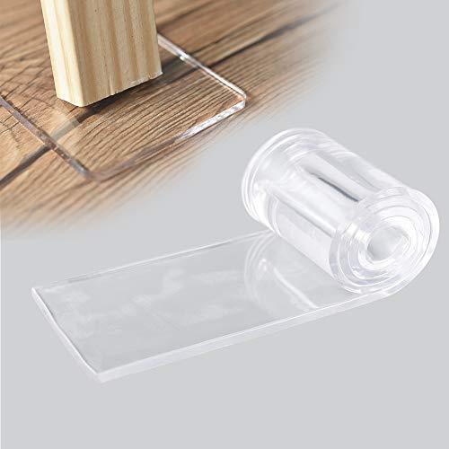 Irich Transparent Möbelschoner, Doppelseiten Selbstklebenden Furniture Pads für Möbelgleiter Stuhlgleiter Bodengleiter Kratzschutz (1 Stück, 19,68 * 2,76Zoll)