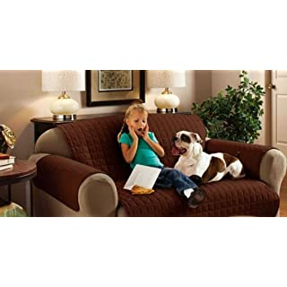Chocolate Brown Two Seater Water Repellent Furniture Protector for Sofa/Settee