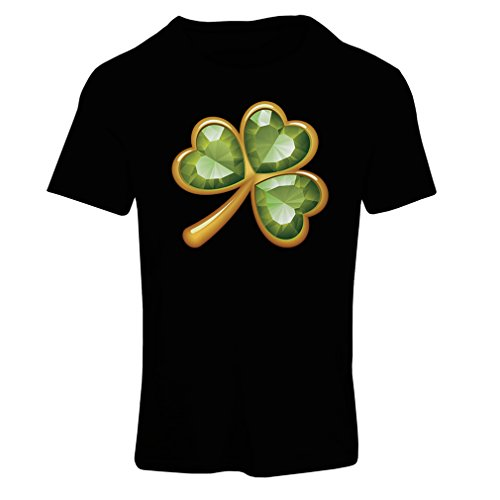 Frauen T-Shirt Irish shamrock St Patricks day clothing (X-Large Schwarz Mehrfarben)