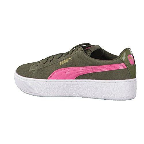 Puma Vikky Platform, Sneakers Basses Femme Vert (Olive Night-rapture Rose)