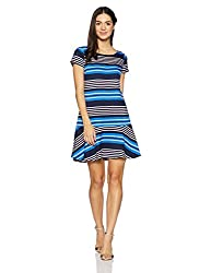 Tommy Hilfiger Womens Shift Dress (A6BWV005_Strong Blue and Multicolor_2)