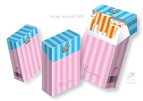 Abbildung: Süße Zigarettenbox aus Pappe mit Deckel SLIPP OVERALL Motiv PRINCESS | ZIGARETTENSCHACHTEL ÜBERZIEHER Zigarettenschachtel Hülle Komplettüberzieher mit Deckel (072 Princess)