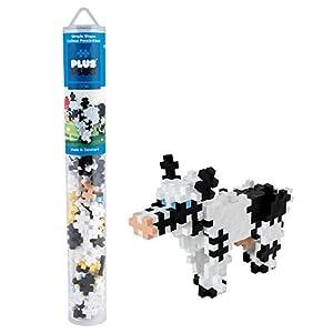 Plus-300.4118 Vaca 100 Piezas de Bloques de construcción de Tubo, Mezclado, estándar