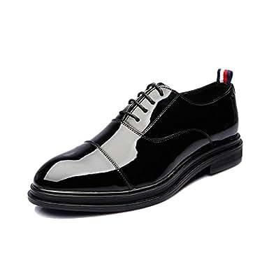 Yaojiaju Herren Klassische Schuhe, Glatte PU-Leder Slip-on Weiche Sohle Business Oxfords für Herren (Farbe : Brown, Size : 38 EU)