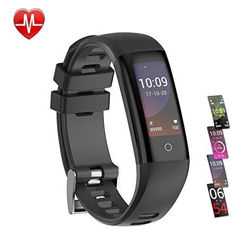 Fitness Armband, Teamyo Fitness Tracker mit Pulsmesser, Aktivitätstracker, Herzfrequenzmonitor, Farbbildschirm Bluetooth Smart ArmbandUhr Schrittzähler, Smart watch IP67 Wasserdicht SchlafMonitor mit Kalorienzähler für Android und IOS Smartphones