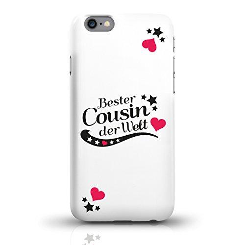 """JUNIWORDS Handyhüllen Slim Case für iPhone 6 / 6s mit Schriftzug """"Bester Cousin der Welt"""" - ideales Weihnachtsgeschenk für den Cousin - Motiv 4 - Handyhülle, Handycase, Handyschale, Schutzhülle für Ih motiv 2"""