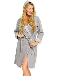 Italian Fashion IF Albornoz de Baño Bata Toalla Vestido de Casa Mujer C49F4RT