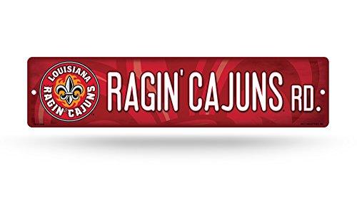 Unbekannt NCAA Louisiana Lafayette Watson 'Cajuns NCAA Res Kunststoff Straßenschild, rot, 10,2x 40,6cm Louisiana-lafayette Baseball