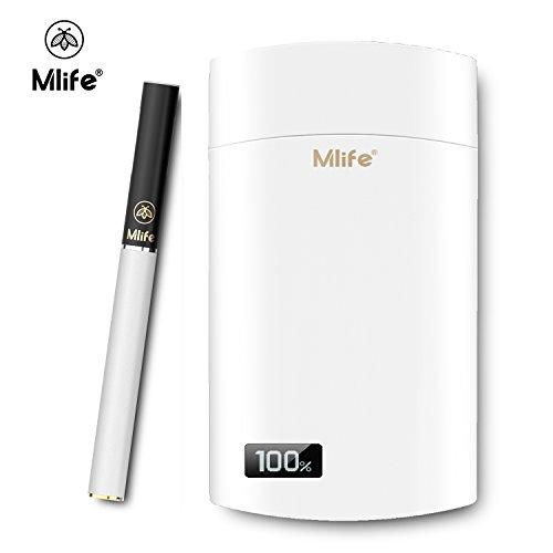 Mlife Mini E Zigarette Kit, 1: 1 zu echten Zigarette M1 Vape Pen Kit kleinste wiederaufladbar PCC Box 1500 mAh Kapazität mit Micro USB Ladeanschluss Elektronische Zigarette Shisha Rohre