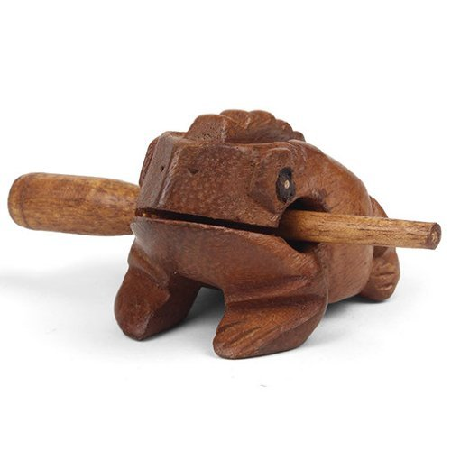 Image of Mini Wooden Croaking Frog Güiro - Fair Trade Percussion Instrument - Fun for all Ages.