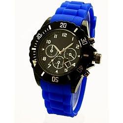 NERD London Herren - Damen Uhr Chrono ,,Royal Blau K66,,