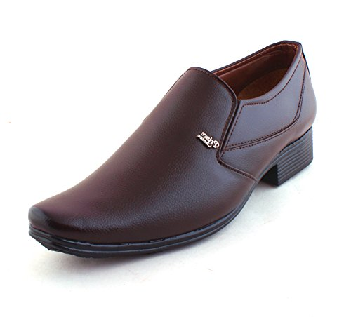 Alestino Men's Leather Looks Formal Shoes (44 UK) FD23BROWN