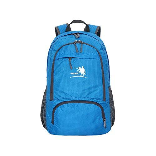sijueam® Faltbar Wasserdichter Rucksack Handtasche Leicht Tragbar Schultertasche für Outdoor Sports Reisen Wandern Klettern Radfahren Trekking Camping Blau blau