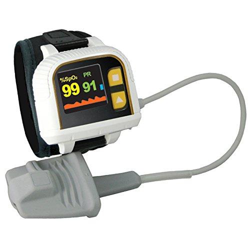 Heal Force Prince-100H Handgelenk-Stil Oximeter für Schlaf-Monitoring / Langzeit-Messung von SpO2, Pulse Rate und Perfusion Index