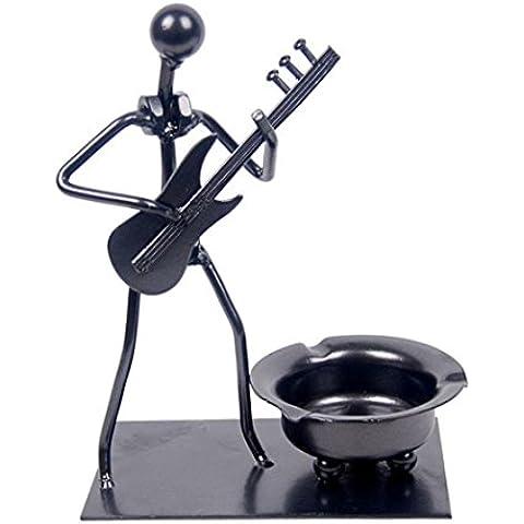 GYN Metal Reciclado Arte Hecho a mano Cenicero de hierro creativo único estilo instrumental- Plata, Flauta ,