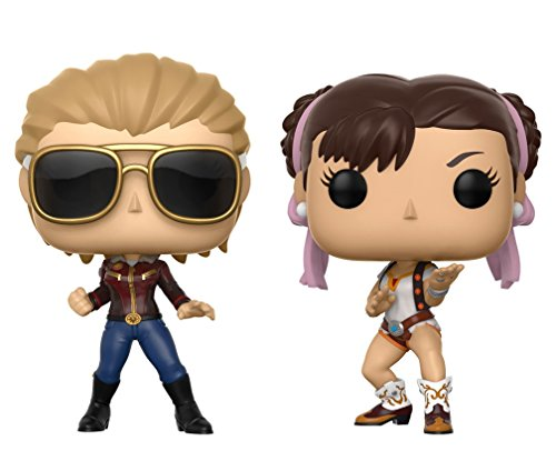 Funko 22767 TV Capcom Captain Marvel Vs Chun-Li Pop Vinyl-Figur, Mehrfarbig
