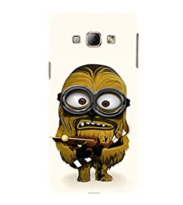 EPICCASE Hairy Minion Mobile Back Case Cover For Samsung Galaxy A3 (Designer Case)