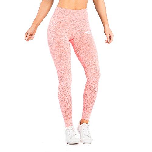 SMILODOX Sport Leggings Damen 'Meditation' | Seamless - Figurformende Tight für Sport Fitness Gym Yoga Training | Sporthose - Workout...