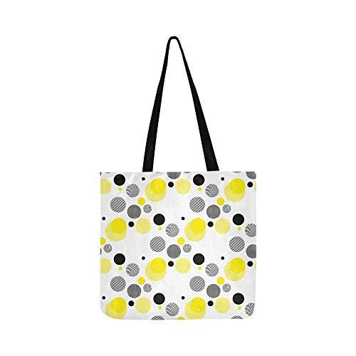 Schöne kreisförmige Muster Leinwand Tote Handtasche Schultertasche Crossbody Taschen Geldbörsen für Männer und Frauen Einkaufstasche