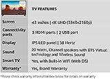 LG 108 cm (43 Inches) 4K UHD LED Smart TV 43UK6360PTE (Black) (2018 model)