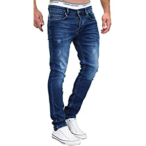 MERISH Jeans Herren Slim Fit Jeanshose Stretch Designer Hose Denim 9148-2100