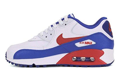 Nike Unisex-Kinder Air Max 90 Sneaker WHITE/UNIVERSITY RED-RACER BLUE