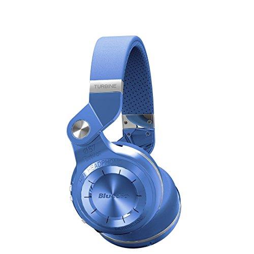 Bluedio t2+ (turbine 2 plus) cuffie bluetooth mp3 integrato , cuffie wireless senza fili con radio fm e lettore mp3; stereo / extra bass / microfono integrato per cellulare, colore: blu