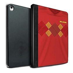 eSwish PU-Leder Hülle/Case/Brieftasche für Apple iPad Pro 12.9 2018/3rd Gen Tablet/Belgien/Belgisch Muster/Weltmeisterschaft 2018 Fußball Trikot Kollektion