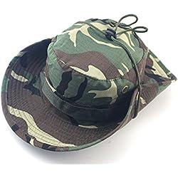 kaifang del ejército británico Militar jungla. Sombrero Sol Bush Rip Stop fuerzas especiales, Green camouflage