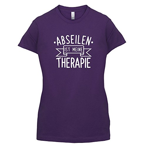 Abseilen ist meine Therapie - Damen T-Shirt - 14 Farben Lila