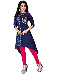 OSLC Kurti Women's Clothing For Women Latest Designer Beautiful Blue Designer Kurti