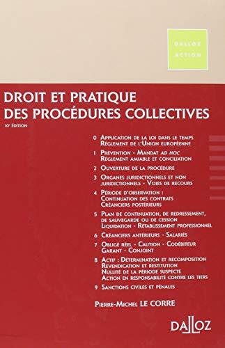 Droit et pratique des procédures collectives 2019/2020 - 10e éd.