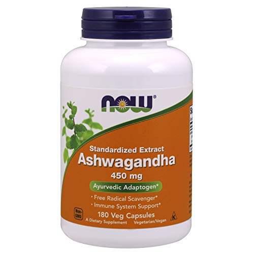 180 Vcaps Now Foods (Ashwagandha Extract, 450mg - 180 vcaps)