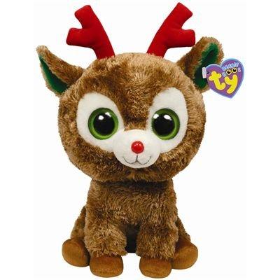 """Beanie Boo Christmas Reindeer - Comet - 24cm 9"""""""