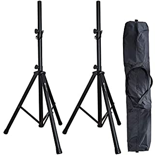 AxcessAbles AXA SSB-101 Heavy Duty Speaker Stands with Carrying Bag