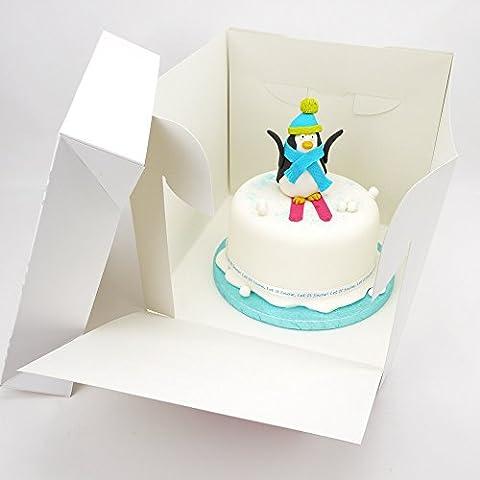 9x 8Inch Tall Caja de apilar para tartas, cartón, 10