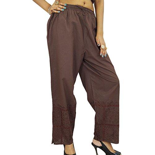 Yoga Harem Pantalon taille élastique Hippie Baggy Harem Vêtements Femmes Pantalon indiennes Brun