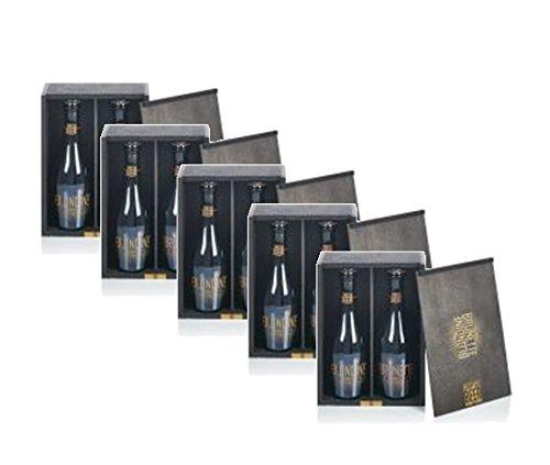 Luxus Bier von Blondine & Brunette Crafted Bier 5 Stück Geschenkboxen à 2 Flaschen 0,33 cl Bier mit SEKT-Reinzuchthefe gebraut und im edlen Holzkistchen Design verpackt - Geschenk