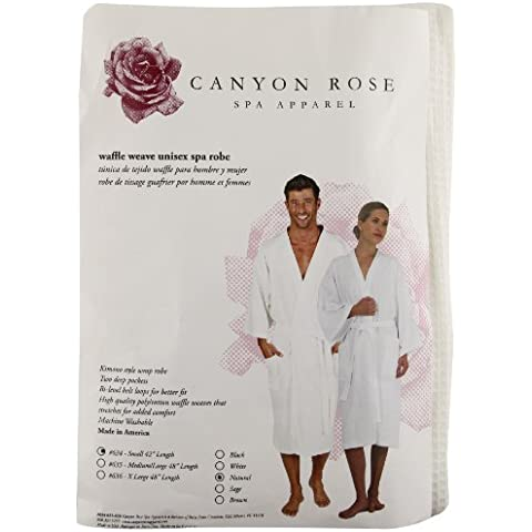 Canyon Rose Waffle Weave Unisex Spa Robe, Short, Natural by