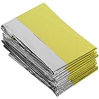 Moliies Emergency Blanket lebensrettende Wärmedämmung Sonnencreme Decke Gold Silber preisvergleich bei billige-tabletten.eu