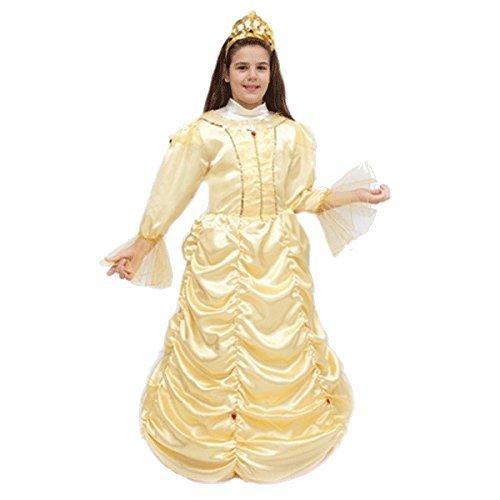 ropa nueva máscara de carnaval de Halloween película princesa de la princesa del bebé niña personaje del juego cosplay del traje bella y la bestia agradable tg altura 9 10 años, la tierra del hombro cm 115