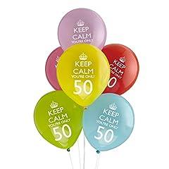 Idea Regalo - Neviti Palloncini Keep Calm - 50mo compleanno!, Confezione da 8