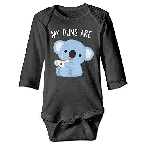 Monicago Neugeborenes Baby Jungen Mädchen Babybody Lange Ärmel Onesie Girl Boy Outfit Baby Bodysuit Jumpsuit Creeper Long Sleeve Puns Are Koala Tea - Creeper Girl Kostüm