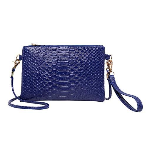 WHSHINE Trendige Einfarbig Umhängetasche Kleine Handtasche PU Leder Tasche Frauen Krokodilmuster Drucken Eine Schulter Abendtasche Schicke Taschen Handtasche -