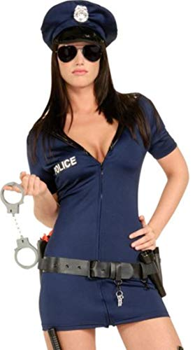 Forever Fancy Ladies Sexy Police Woman Costume Cop Outfit Halloween Hen ()