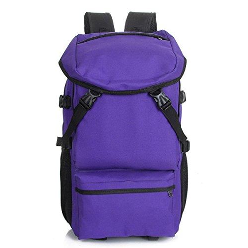 QPALZM Außen Rucksack Reisen Wandern & Camping Rucksack Packung Lässige Large College School Daypack Schulter-Buch-Taschen Purple